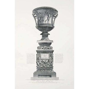 Framed Print on Rag Paper Piranesi Urn Dedicated to Thomas Moore an English Lord