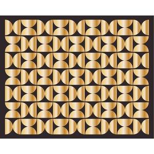 Framed Print on Rag Paper Golden Screen By Alejandro Franseschini