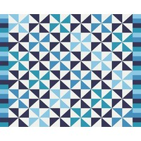 The Picturalist Framed Print on Rag Paper: Blue Pattern by Alejandro Franseschini