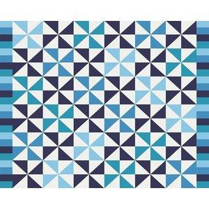 Framed Print on Rag Paper Blue Pattern by Alejandro Franseschini