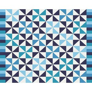 Print on Paper US250 - Blue Pattern by Alejandro Franseschini