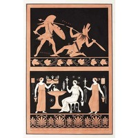 Framed Print on Rag Paper: Gladiator Combat