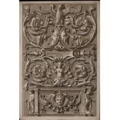 Framed Print on Rag Paper: Antique Allegoric 'Sing Your Praises with Understanding' 'Psalite Sapienter'
