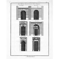 """Print on Paper US250 - Architectural Details """"Portes relatives aux Cinq Ordonnances"""""""