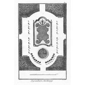 The Picturalist Framed Print on Rag Paper: Architectural Drawing Plan of French Garden 2