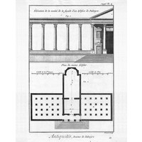 The Picturalist Framed Print on Rag Paper: Plan of a building in Palmyra