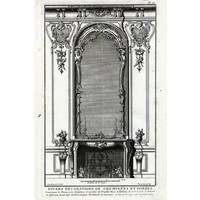 Print on Paper US250 - Architectural Details French Fireplace Mantel 2