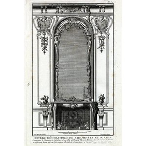 Framed Print on Rag Paper: French Fireplace Mantel 2