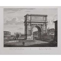 Framed Print on Rag Paper: Titus Arch in Rome