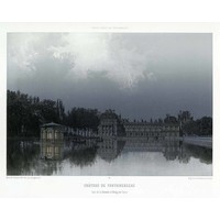 Framed Print on Rag Paper: Paris in it's Splendour The Fontainebleau Palace