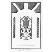 The Picturalist Framed Print on Rag Paper: Architectural Drawing Plan of French Garden 3