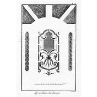 Framed Print on Rag Paper Plan of French Garden 3