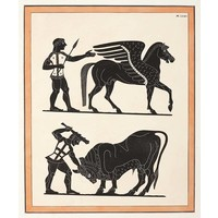 Framed Print on Rag Paper: Print from an Etruscan vase [Pl. XXXIV]