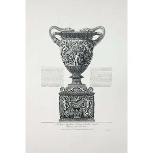 Framed Print on Rag Paper Piranesi Urn Dedicated to Sir William Patoun