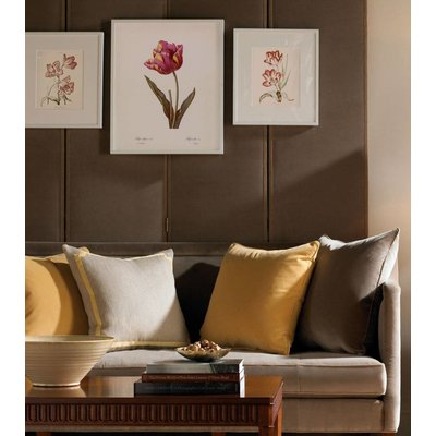 The Picturalist Framed Print on Rag Paper: White and Red Tulips Keizer Leopoldus