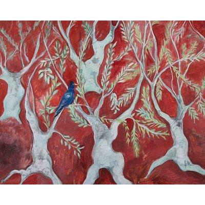 "Framed Print on Rag Paper: ""Red Symphony"" by Ljubica Hajduka"