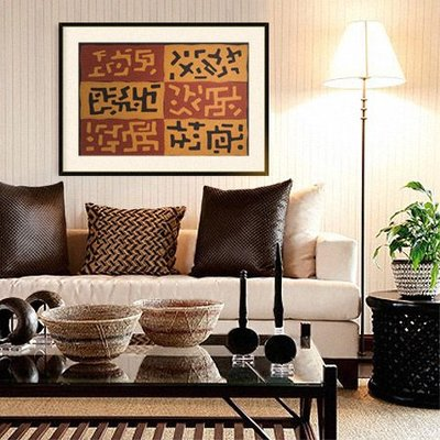 The Picturalist Framed Print on Rag Paper: African Kuba Textiles from Zaire  Print on Paper