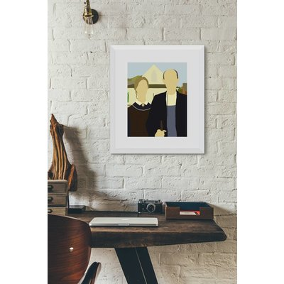 Framed Print on Rag Paper: American Gothic by Michael Schleuse
