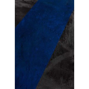 Framed Print on Canvas: Black and Blue Canvas