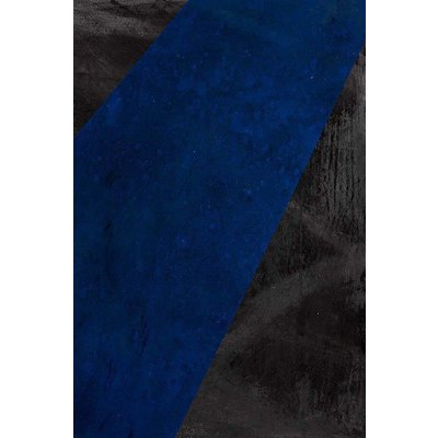 Framed Print on Canvas: Black and Blue 1 Canvas by Evelyn Ogly
