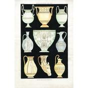 Framed Print on Rag Paper: Antique Greek Vases and Urns Series 1