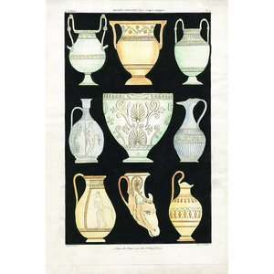 The Picturalist Framed Print on Rag Paper: Antique Greek Vases and Urns Series 1