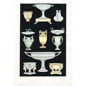 Framed Print on Rag Paper: Antique Greek Vases and Urns Series 2