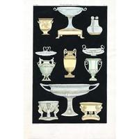 Framed Print on Rag Paper: Antique Greek Vases and Urns Series2