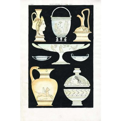 The Picturalist Framed Print on Rag Paper: Antique Greek Vases and Urns Series 3