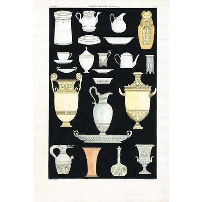 The Picturalist Framed Print on Rag Paper: Antique Greek Vases and Urns Seriess 4