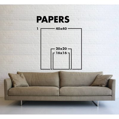 Framed Print on Rag Paper: Composition in Three Colors by Pedro Nuka