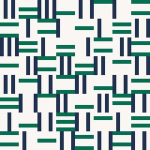 Print on Paper US250 - Pedro Alonso Miranda Conversation in Blue and Green
