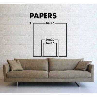 Framed Print on Rag Paper: Neutral Variation by Pedro Nuka