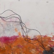 Framed Print on Rag Paper: Cuerdas Blanco by Lidia Beiza