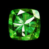 The Picturalist Framed Facemount Acrylic: Precious Gem Green Radiant Emerald