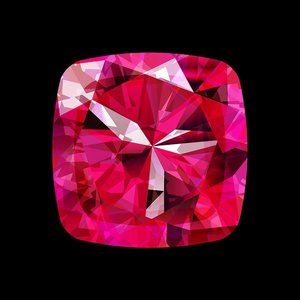 Framed Facemount Acrylic Precious Gem Pink Ruby Radiant Diamond