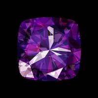 Framed Facemount Acrylic Precious Gem Purple Amethyst Radiant