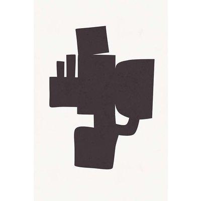 Framed Print on Rag Paper: Modernist Shapes 1 by Alejandro Franseschini