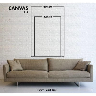 Stretched Canvas 1.5 - Black and Blue 2 Canvas by Evelyn Ogly