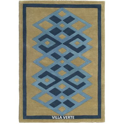 Hand Tufted 100 % NZ Wool Entrelac Hand Tufted