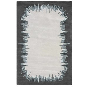 Hand Tufted 100 % NZ Wool Ikat Hand Tufted