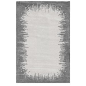Hand Knotted 50% Silk 50% NZ Wool Ikat Rug Silk and Wool Collection