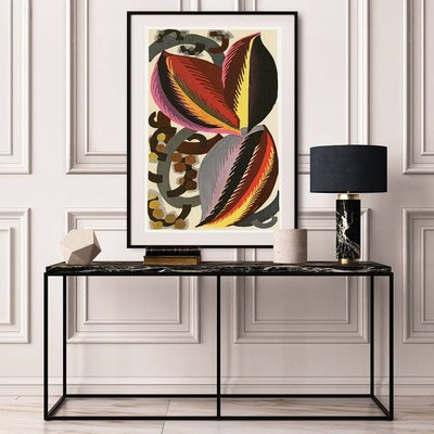 Framed Print on Rag Paper: Cocoa Beans in Yellow, Red and Pink by Edouard Benedictus
