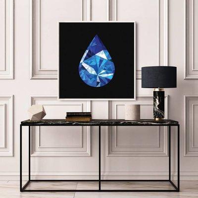 Facemount Acrylic: Precious Gem Blue Sapphire Pear Shape