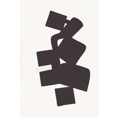 The Picturalist Framed Print on Rag Paper: Modernist Shapes 3 by Alejandro Franseschini