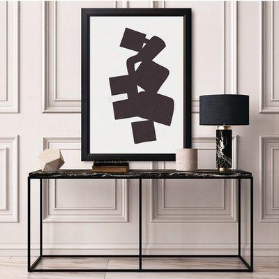 Framed Print on Rag Paper: Modernist Shapes 3 by Alejandro Franseschini