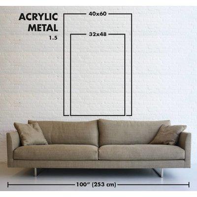Facemount Metal: Technocolor Blur Print on Metal