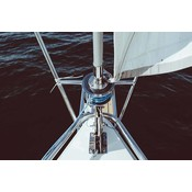 Framed Print on Rag Paper: Boat Symmetry by P. Kadysz