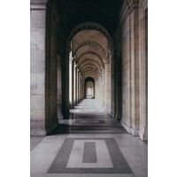 Framed Print on Rag Paper: The Louvre Perspective