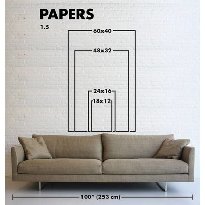 Print on Paper US250 - Blue Balance by Alejandro Franseschini